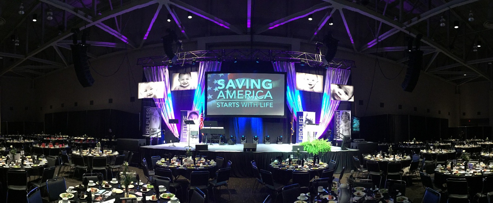 Right To Life 2015 Evansville Stage Lighting Sound Video