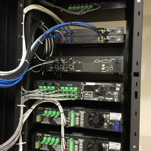 Audio Design and Installation QSC Q-Sys Automation Dante networked audio