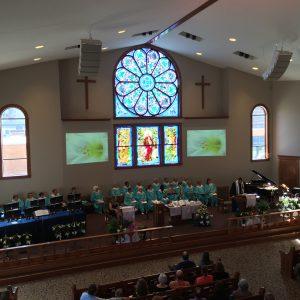 Church Installation AV Design Stage Lighting Audio Video