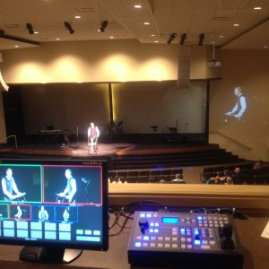 Church Theater Install Video Imag PTZ Camera Video System Blue Grass