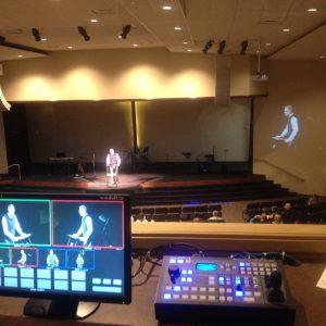 Church Theater Install Video Imag PTZ Camera Video System Blue Grass